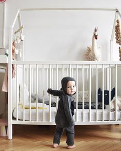The baby crib that becomes a toddler bed: the Stokke Home cradle credit: @peggypaulpaula