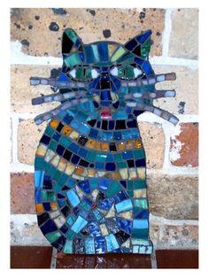 Mosaic cat. Kitty Blues