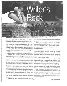 """Read """"Writer's Block"""" article (October 2008) published by the Prince George's Suite Magazine that highlights Ananda's debut novel Love's Troubadours - Karma: Book One and its connection to P.G. County, Maryland. The article also mentions Ananda's childhood in P.G. County and artist-in-residence work with Smith Farm Center for Healing and the Arts at Howard University Hospital. Howard University, First Story, Inspirational Thoughts, Popular Culture, Maryland, Karma, Book Art, Connection, Highlights"""