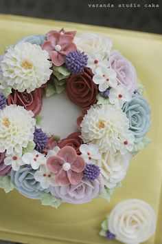 butter cream flowers