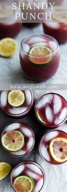 Shandy Punch - a combo of sour beer, orange juice, and red wine make this is a perfect summer drink for a party. Easy Drink Recipes, Best Cocktail Recipes, Beer Recipes, Drinks Alcohol Recipes, Punch Recipes, Alcoholic Drinks, Beverages, Fun Cocktails, Recipes
