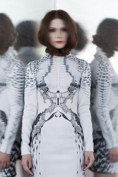 Wearable anatomy from Yulia Chulkova Fashion Women 2013