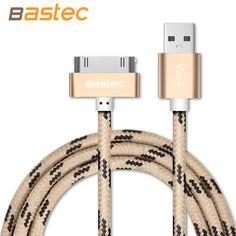 아이폰 4 초 4 아이 패드 2 3, Bastec 원래 30 핀 금속 플러그 나일론 꼰 데이터 동기화 충전 USB 케이블 아이폰 4 4 초 아이 패드 2 3