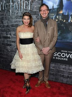 David Thewlis Photos - Actress Natalia Tena and actor David Thewlis attend the grand opening of Harry Potter: The Exhibition at Discovery Times Square Exposition Center on April 2011 in New York City. - Grand Opening Of Harry Potter: The Exhibition Female Harry Potter, Harry Potter Actors, Harry Potter Cast, Harry Potter Fandom, Harry Potter Universal, Harry Potter Memes, Potter Facts, Tonks And Lupin, Natalia Tena