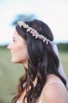 Lavender floral crown | Photo by Meg Haley