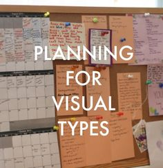 If you learn (and work) best by SEEING things, this planning system is for you.
