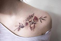 Floral tattoo delicate top design ideas 82
