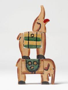 Elephants (c. 1928)Joaquín Torres GarcíaPainted wood