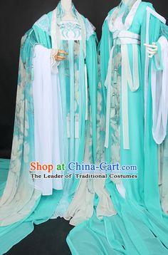 Trung Quốc truyền thống Hoàng gia Royal Court dress Hanfu Quần áo Trang phục Hoàng hậu cổ điển Set Toàn bộ Phụ nữ