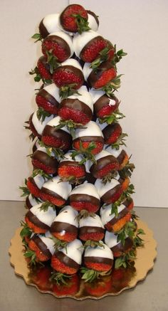 Strawberries & Dip. Would be perfect for the dessert table