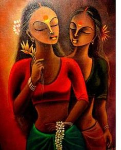 Modern Art Paintings, Indian Paintings, Rajasthani Painting, Indian Art Gallery, Girl Face Drawing, Indian Folk Art, Indian Artist, India Art, Bird Artwork