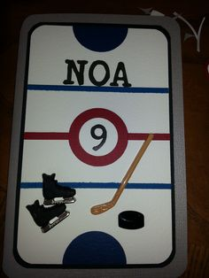 Birthday card for my son who loves hockey =) - Scrapbook.com