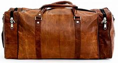"""PC 24"""" Leather Duffel Travel Gym Overnight Weekend Leather Bag Sports Cabin: Amazon.ca: Luggage & Bags"""