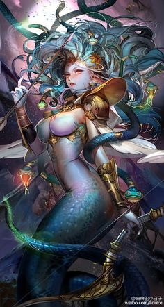 lol it looks like embellished #medusa from #dota (I don't actually know where it is from)