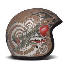 DMD Vintage Helmet - P40 | Open Face Motorcycle Helmets | FREE UK delivery…