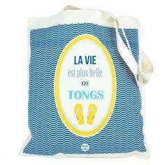 Tote bag Tongs