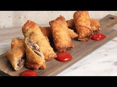Cheesesteak Eggrolls Recipe - Laura in the Kitchen - Internet Cooking Show Starring Laura Vitale
