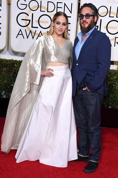 Jemima Kirke & Mike Mosberg at #GoldenGlobe2015