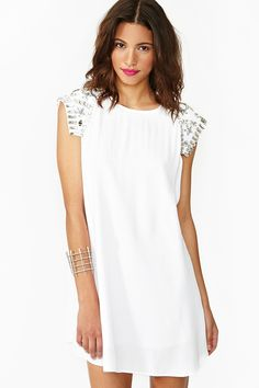 Little White Dress // Looking Glass Dress in Clothes Dresses at Nasty Gal