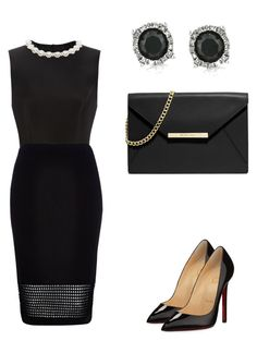 """""""black panter"""" by vbstyle88 ❤ liked on Polyvore featuring Simone Rocha, River Island, MICHAEL Michael Kors, Mark Broumand and Christian Louboutin"""