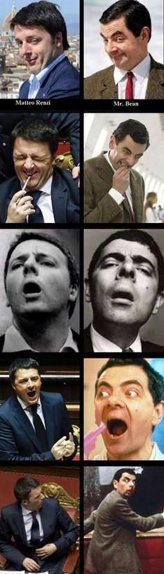 Pinocchietto Renzi e Mr. Bean. La somiglianza é inquietante...e non parlo solo della somiglianza fisica.