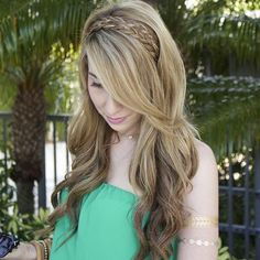 Hairstyle With Two Braids Headband