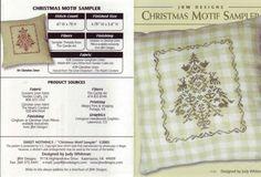 Christmas Motif Sampler • 1/2 Information and Finished Ornament