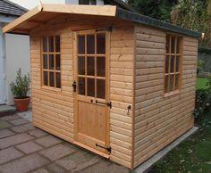 Neat bespoke 7ft x 5ft garden summerhouse