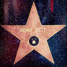 Adam West got his star on the Hollywood Walk of Fame April 5, 2012. POW BAM BOING!!!