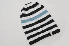 ZuzanaHdesigns / p á s i k  | S K L A D O M Slouchy Beanie, White Denim, Black White, My Design, Stripes, Knitting, Spring, Hats, Instagram Posts