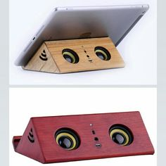 Wood speaker with retro style mini Eco-friendly walnut material slant induction,   Bamboo Portable Speaker