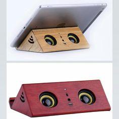 Wood speaker with retro style mini Eco-friendly walnut material slant induction,   Bamboo Portable Speaker