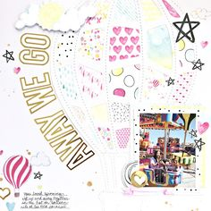 Away We Go Scrapbooking Layout