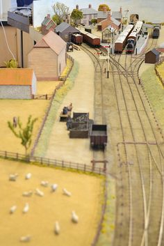 """""""East Lynn & Nunstanton layout, as seen at the Mid Essex Model Railway Exhibition held at Shenfield School in 2012."""" 