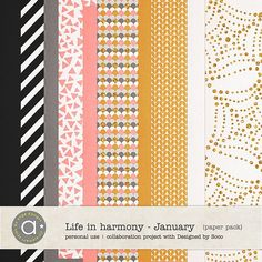 Life In Harmony - January {Papers}   ange designs