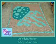 Jellyfish Afghan C2C Graph and Written Word Chart by CrochetCouch