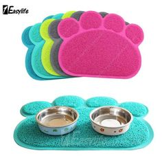 Paw #shape dog #puppy cat pvc placemat pet dish bowl feeding food mat wipe #clean,  View more on the LINK: 	http://www.zeppy.io/product/gb/2/361502877883/