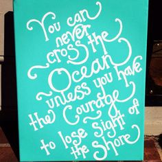Custom hand-painted quote canvases on Etsy, $35.00