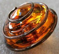 UNIQUE Antique!!!! Charmstring Glass Paperweight Button (1pc) #D628 - 22 mm RARE