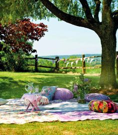 Garden picnic...Full details on Modern Country Style blog: Outdoor Living by Selina Lake: Book Review