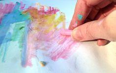 making a plein-air monoprint
