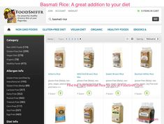 Basmati Rice - A great addition to your diet!  http://www.foodsniffr.com/blog/basmati-rice-a-great-addition-to-your-diet/  Find Basmati Rice at FoodSniffr.com Basmati rice is an amazing, fragrant rice that you will love. It is naturally gluten free, vegan and vegetarian too. Want to find the right one for you - head over to Basmati Rice at FoodSniffr. Say hello to Sniffy, the FoodSniffr dog who does the