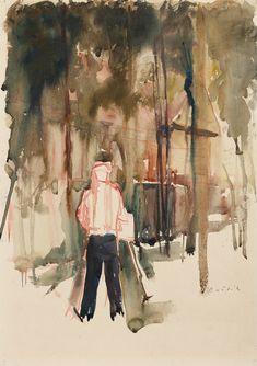 BOŠTÍK VÁCLAV 1913–2005 Postava, 30. léta 20. stol. Auction, Painting, Design, Painting Art, Paintings, Paint, Draw, Design Comics