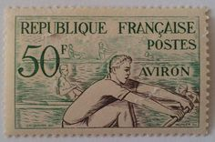 French Stamp Helsinki, Rowing Sport, French Artwork, Munier, Small Art, Club, Olympic Games, Postage Stamps, Olympics