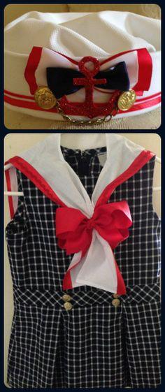 Traje de marinero. Vestido  Se puede utilizar cualquiera que la niña tenga  en colores b34e3964433