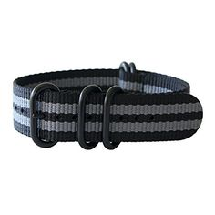 "21mm 5 Ring 12""(300mm) Military Army Diver Nylon Watch Strap Band #Black/Gray - PVD Black yeppoonus http://www.amazon.com/dp/B00SB0AKBA/ref=cm_sw_r_pi_dp_kk0Yub0F4HE2K"