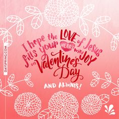 Valentine's Day Quotes : QUOTATION – Image : Quotes Of the day – Description … let the Love of Jesus fill your heart with joy. Sharing is Power – Don't forget to share this quote ! Valentines Day Sayings, Friend Valentine Card, Happy Valentines Day Wishes, Valentines Gifts For Boyfriend, Valentines For Kids, Valentine Verses, Valentine Nails, Valentine's Day Quotes, Sunday Quotes