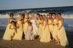 yellow bridesmaids dresses ... beautiful!!!!