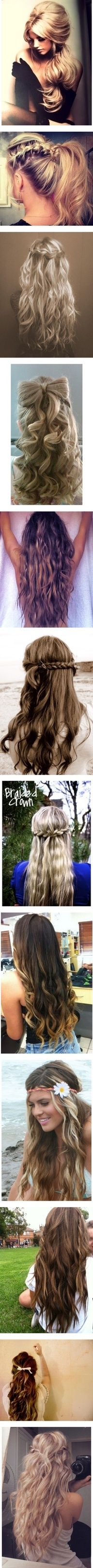Hair styles. In love with the first two!