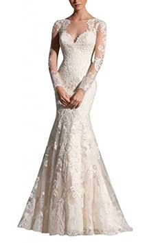 MiLano Bride Grace Illusion Neck Long Sleeves Mermaid Floral Wedding Dresses-2-Ivory MILANO BRIDE http://www.amazon.com/dp/B00QRMPTYM/ref=cm_sw_r_pi_dp_6Ygnvb00F1ZK6
